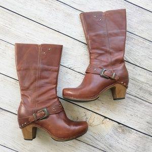 Dansko Rylan Crazy Horse Boot Brown Leather Clog